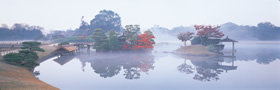 Naka-no-shima Island Floating on the Morning Mist